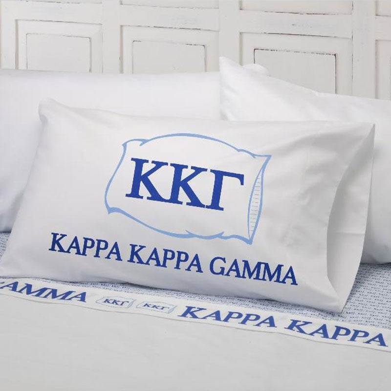 Excel Kappa Kappa Gamma Cotton Sateen 400 Thread Count Sheet Set