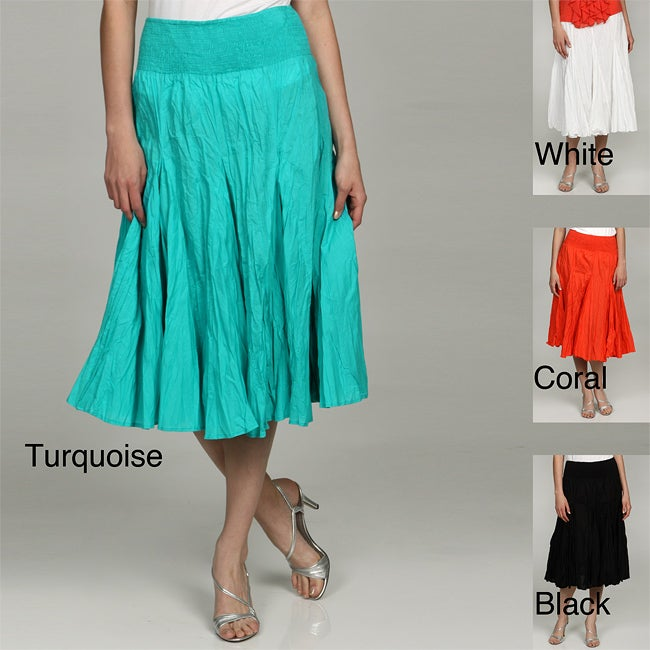 Grace Elements Women's Cotton Broomstick Skirt