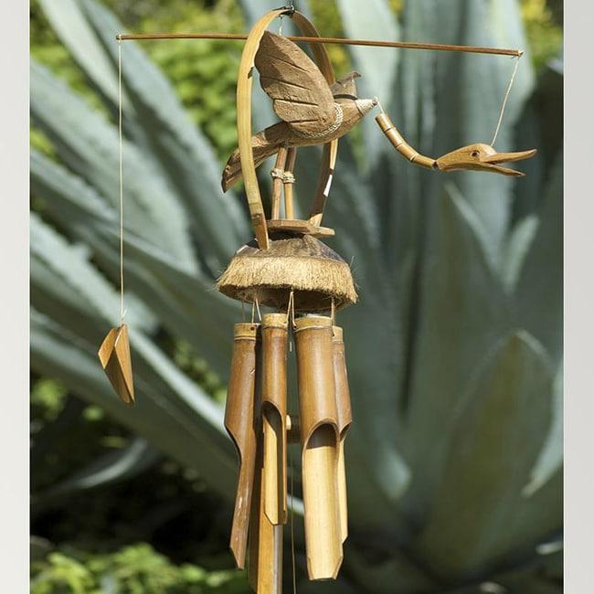 Handmade Bamboo Flying Duck Wind Chime (Indonesia)