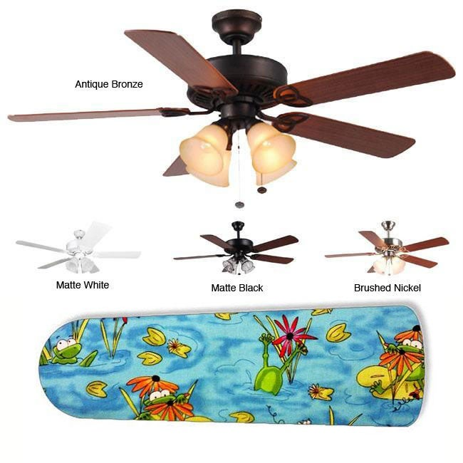 New Image Concepts 4-light 'Frog Frenzy' Blade Ceiling Fan