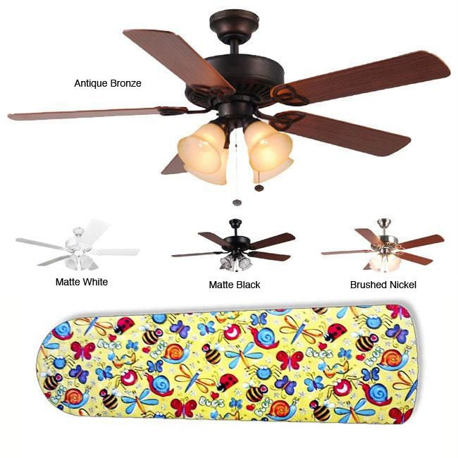 New Image Concepts 4-light 'Bug Bonanza' Blade Ceiling Fan