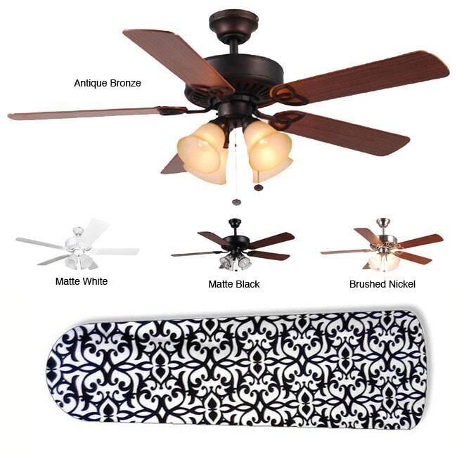 New Image Concepts 4-light 'Parisian Elegance' Blade Ceiling Fan