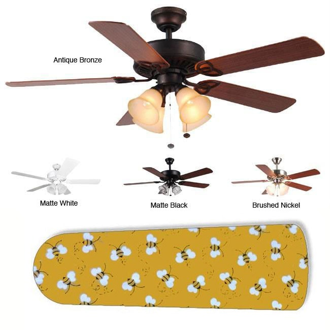 New Image Concepts 4-light 'Buzzin' Bumblebees' Blade Ceiling Fan