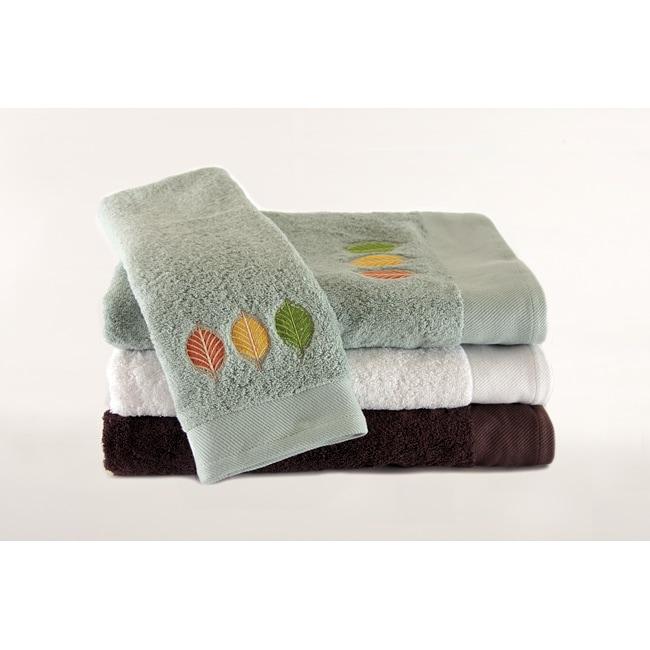 Streetlight Leaves Embroidered 3-piece Towel Set