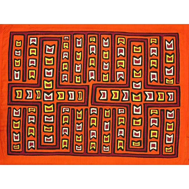 Fabric 'Pluses and Pendants' Mola Tapestry (Panama)