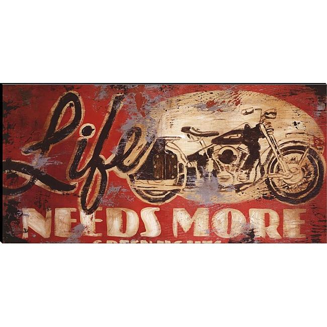 Rodney White 'Life Needs More Green Lights' Canvas Art