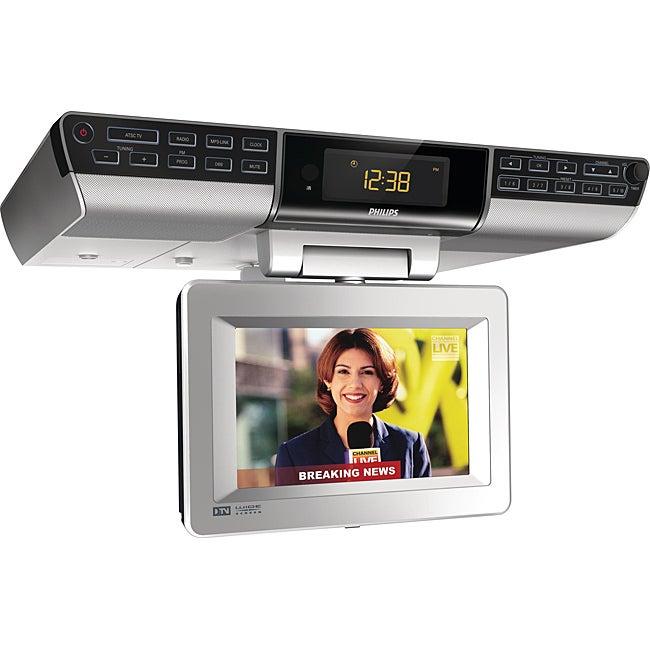 philips ajl750 7 inch under counter kitchen tv clock radio clarus top 131ktv under cabinet 13 inch kitchen tv with
