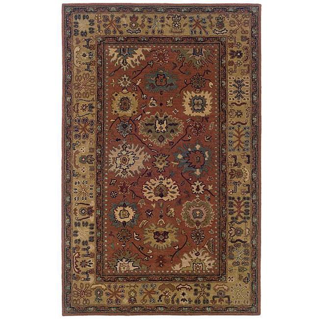 Hand-tufted Pink Oriental Wool Rug (5' x 8') - 5' x 8'