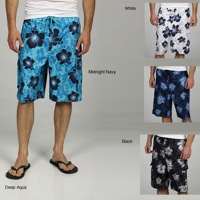 1a5a701bd43 Shop Beverly Hills Polo Club Men's Hibisicus Boardshorts - Free Shipping On  Orders Over $45 - Overstock - 5834883