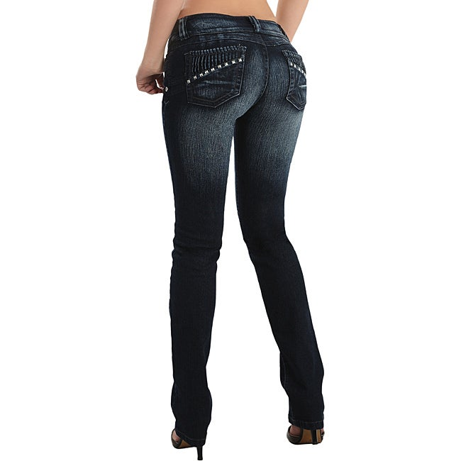 Dion Women's Boot-cut Stretch Push-up Jeans