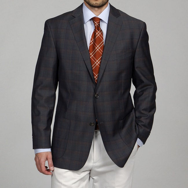 Arnold Brant Men's Brown and Navy Wool Sportcoat