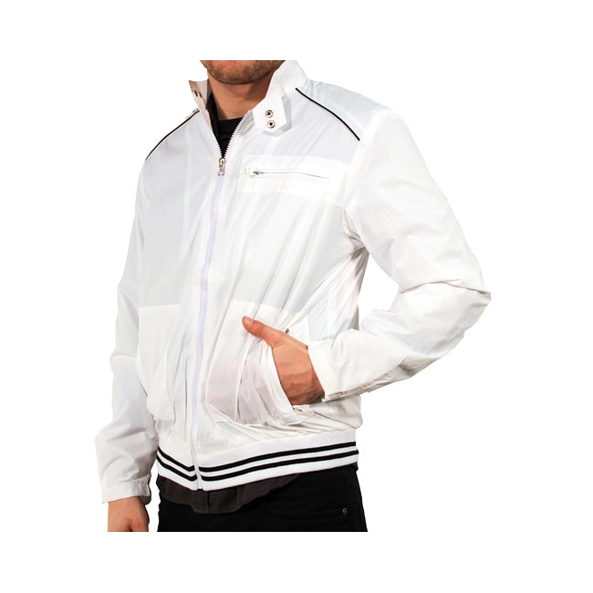 191 Unlimited Men's White Baseball Jacket