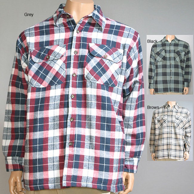 23e826ac5a2 Shop Mountain Ridge Men s Explore Life Quilted Flannel Shirt - Free  Shipping On Orders Over  45 - Overstock - 5838716