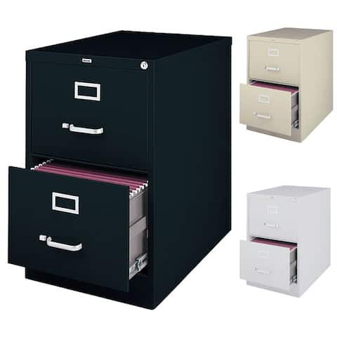 Hirsh 25 Inch Deep 2 Drawer Legal Size Commercial Vertical File Cabinet