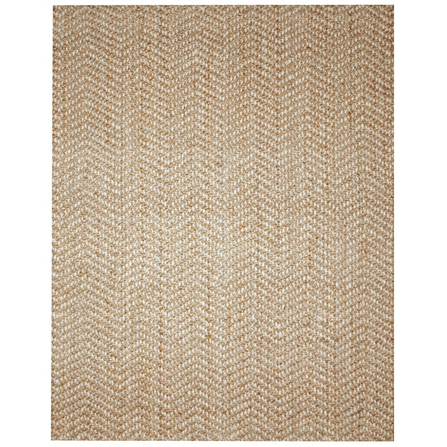 Elysian Natural Herringbone Jute and Wool Rug 8 x 10  : L13573842a from www.overstock.com size 650 x 650 jpeg 147kB
