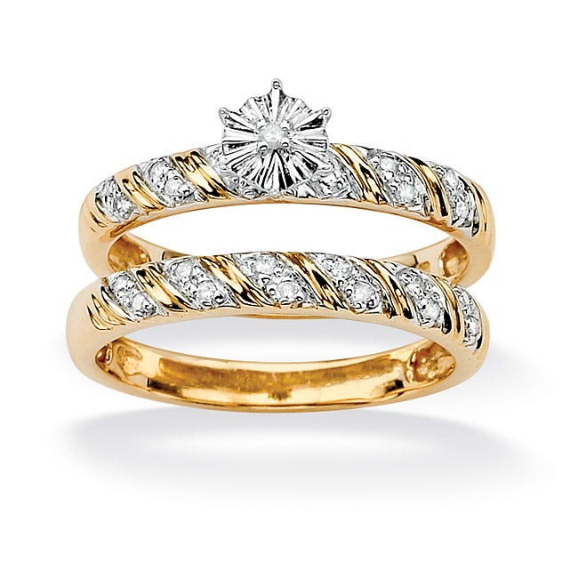 Isabella Collection 10k Gold 1/10ct TDW Diamond Ring (G-H, I2-I3)