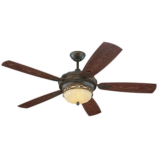 Edwardian 3 light Bronze Indoor/ Outdoor Ceiling Fan