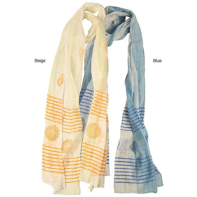 Cotton Indian Design Scarf (India)