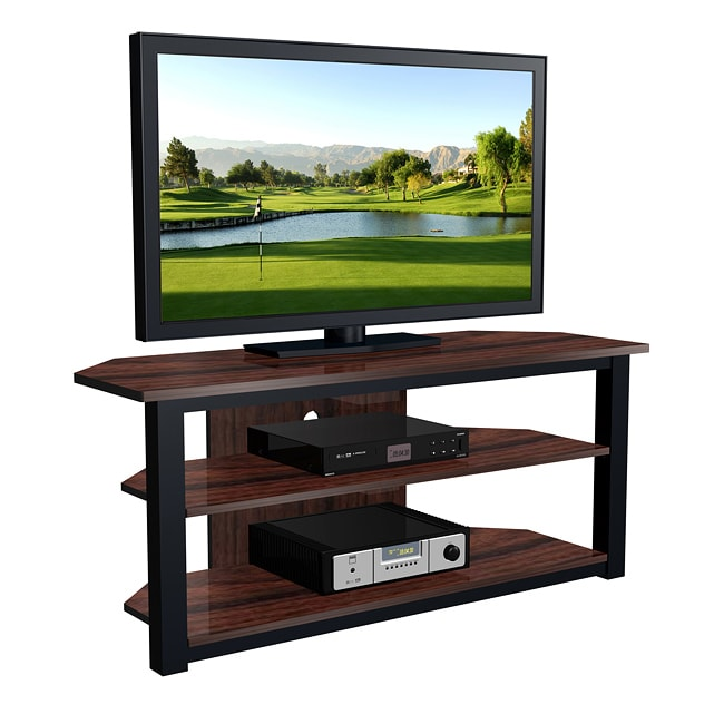 shop exp entertainment 55 inch flat panel tv stand free shipping today overstock 5869860. Black Bedroom Furniture Sets. Home Design Ideas