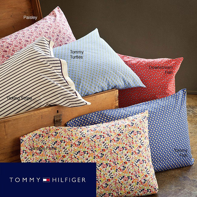 Tommy Hilfiger Printed Cotton Twin/Twin XL-size 200 Thread Count Sheet Set
