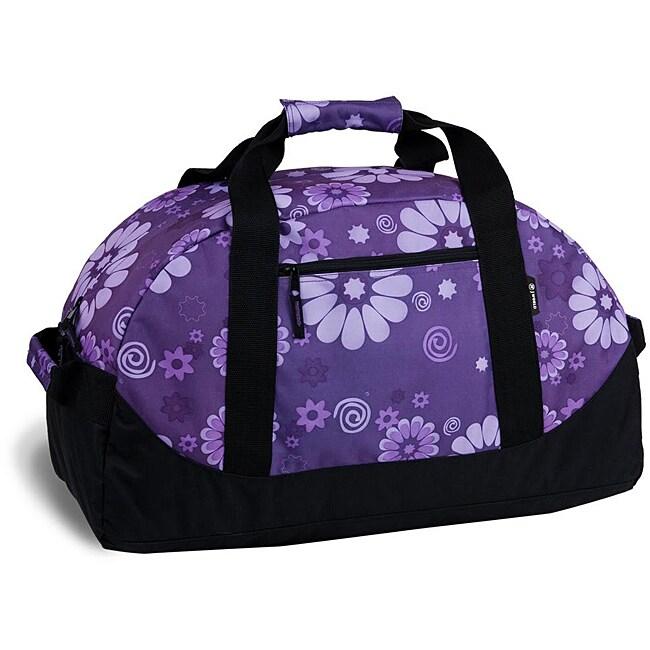 J World 'Lawrence' Purple Flower 30-inch Duffel Bag