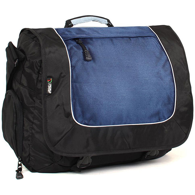 J World Black and Navy 15.4-inch Laptop Messenger Bag