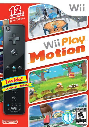 Wii - Wii Play Motion with Black Wii Remote Plus