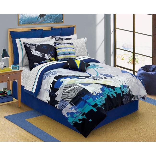 Island Surf 4-piece Full-size Comforter Set - Free ...