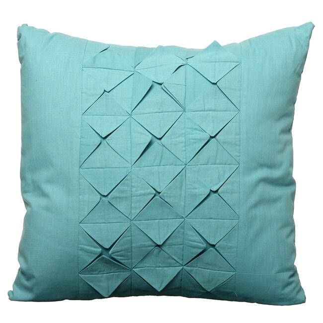 Steve Madden Taylor Aqua Square Decorative Pillow