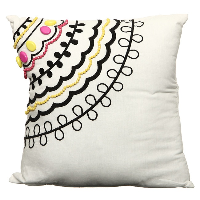 Steve Madden Betty White Square Decorative Pillow