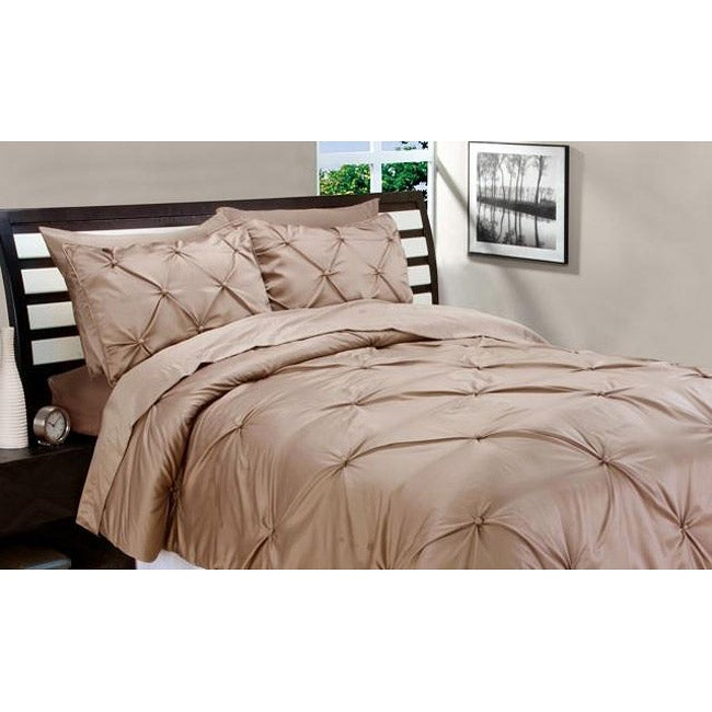 Matte Satin Toffee Down Alternative 3-piece Comforter and Sham Set