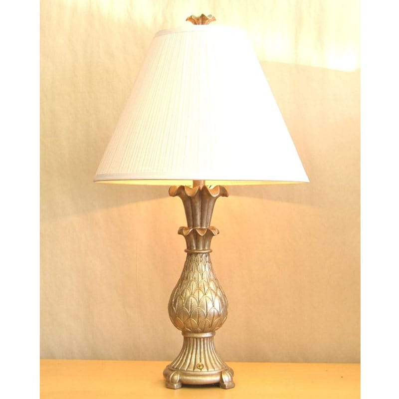 Transitional Aged Silver 2-light Table Lamp
