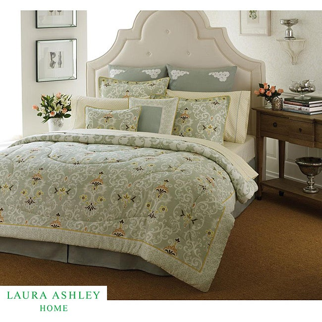 Shop Laura Ashley Sheffield 4-piece Queen-size Comforter