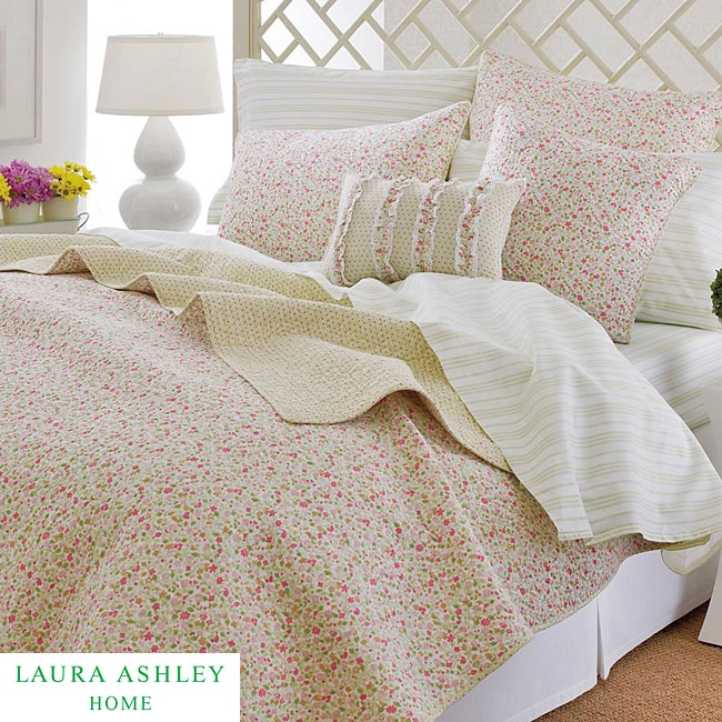 Laura Ashley Sophie Pink Floral 3-piece King-size Quilt Set