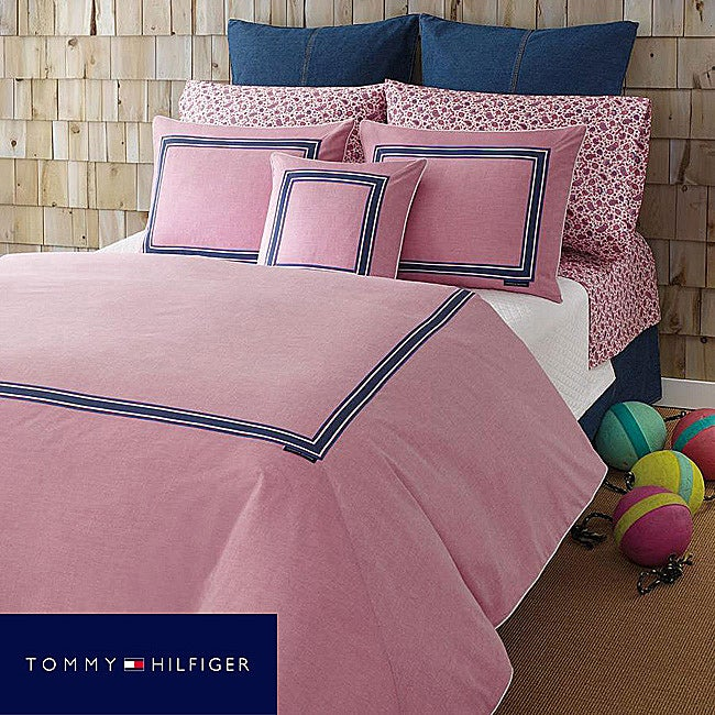 Tommy Hilfiger Oxford Pink Full/ Queen-size Comforter