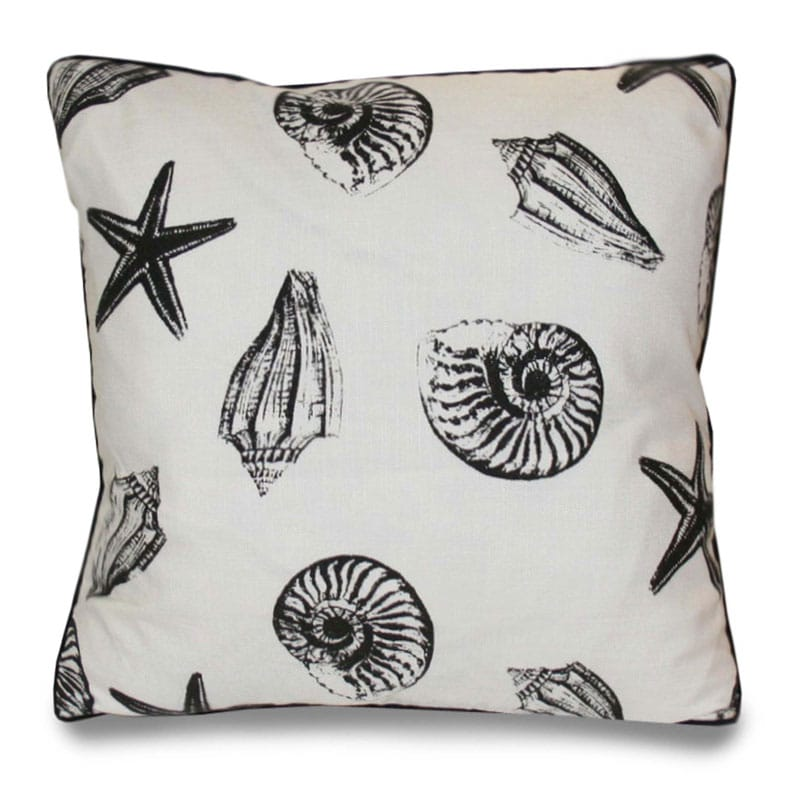 Scattered Seashells 20-inch Decorative Pillow