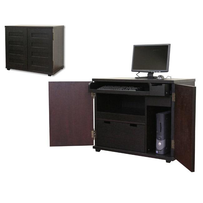 ferron black wood cabinet style modern computer desk free shipping
