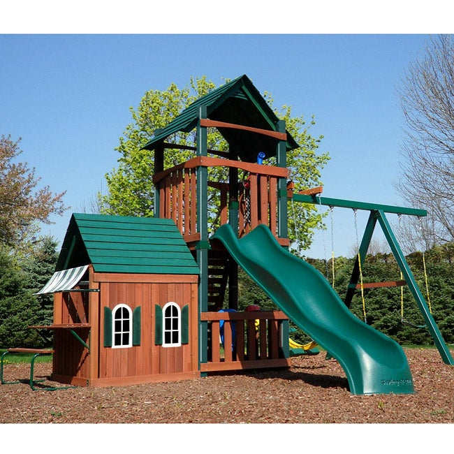 Swing N Slide Summerville Tower Wood Play Set Free