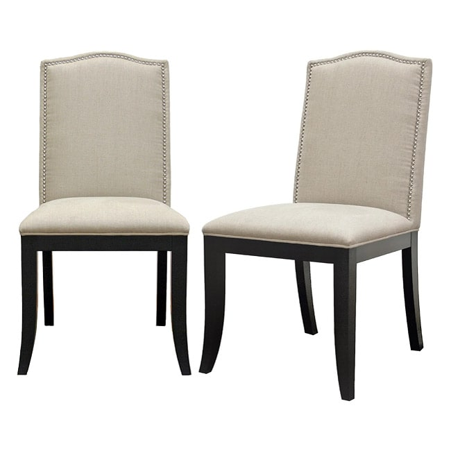 Baudette Beige Modern Dining Chairs (Set of 2) - Thumbnail 0