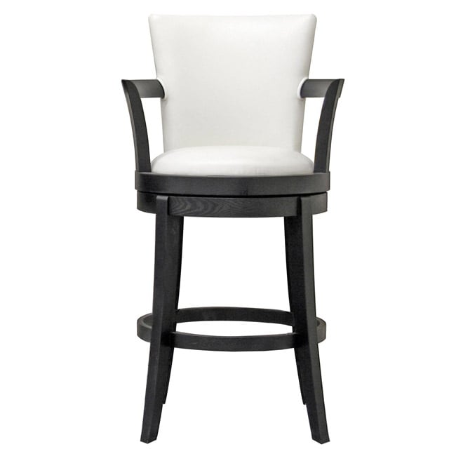 Neptune Off White Leather Swivel Bar Stool Free Shipping