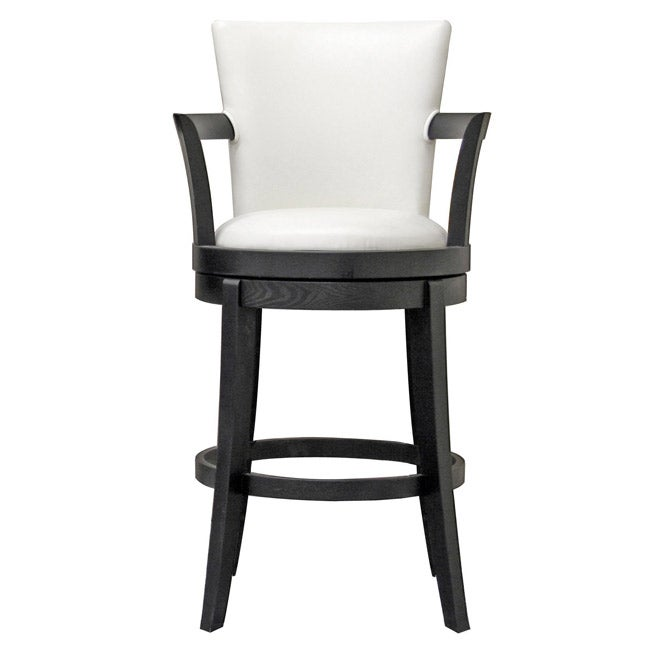 Swivel Leather Bar Stools: Shop Neptune Off-white Leather Swivel Bar Stool