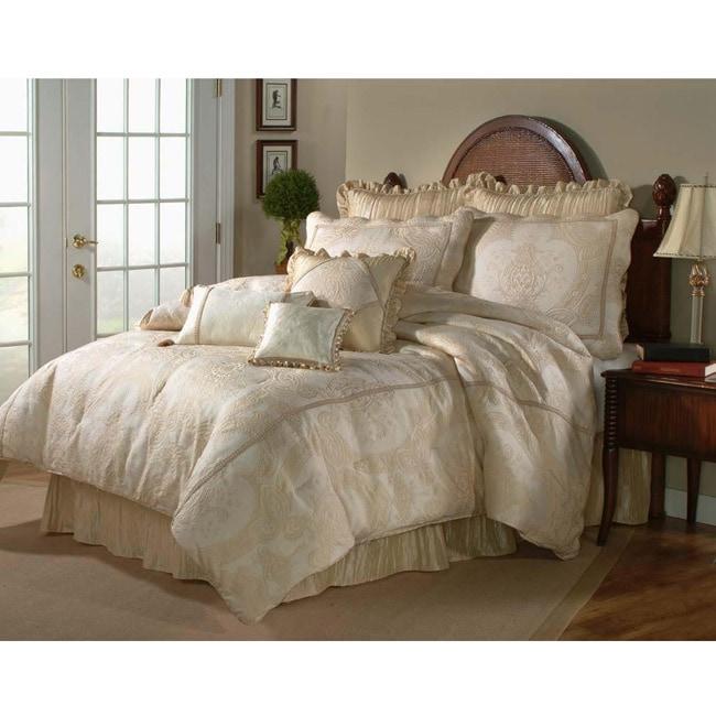 Shop Malaga Ivory King Size 4 Piece Comforter Set Free