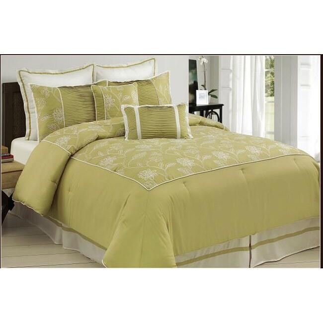 Princeton Green 8-piece King-size Comforter Set