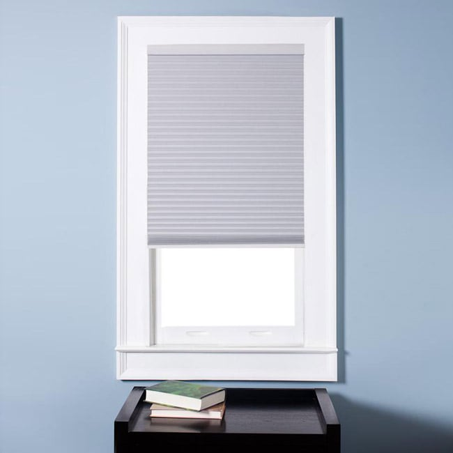 Arlo Blinds Honeycomb Cell Blackout White Cordless Cellular Shades (32.5 x 60) - Thumbnail 0