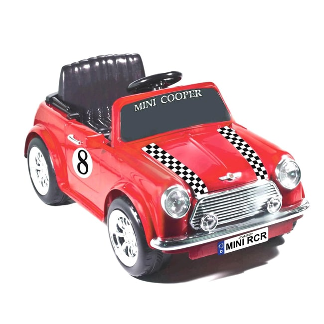 Red Racing Mini Cooper 6V Ride-on Car