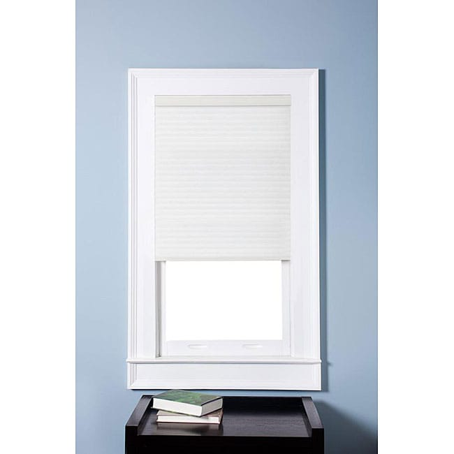 Arlo Blinds Honeycomb Cell Light-filtering Pure White Cellular Shades (34 x 60)