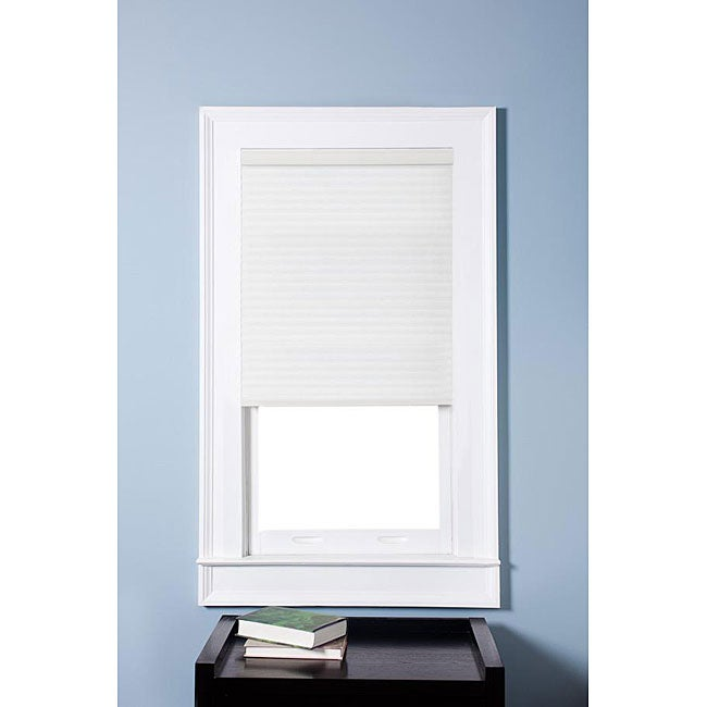 Arlo Blinds Honeycomb Cell Light-filtering Pure White Cellular Shades (40 x 60)