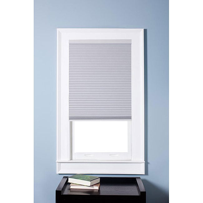 Arlo Blinds Honeycomb Cell Blackout White Cordless Cellular Shades (32.5 x 72)