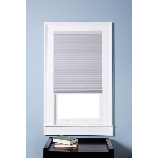 Arlo Blinds Honeycomb Cell Blackout White Cordless Cellular Shades (72 x 72)