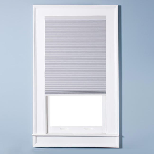 Arlo Blinds Honeycomb Cell Blackout White Cordless Cellular Shades (40 x 72)